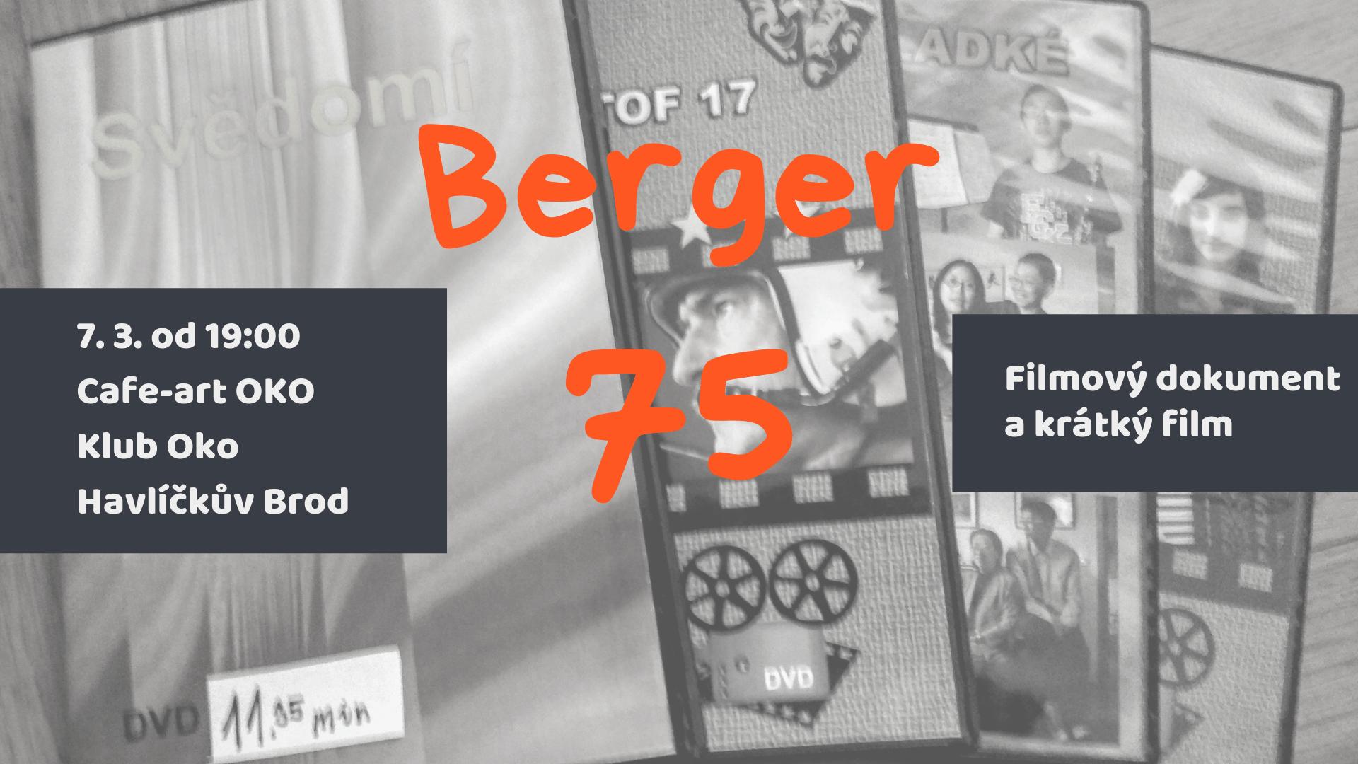 Svou tvorbu dokumentaristy a filmaře, tedy krátký film a dokument představí Petr Berger v Cafe-art OKO Havlíčkův Brod